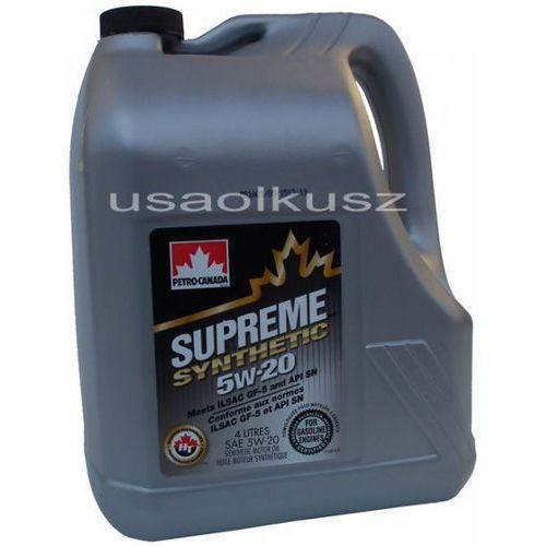 Olej silnikowy syntetyczny supreme petro canada 5w20 4l marki Petro-canada