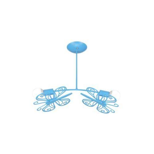 LAMPA wisząca MOTYLEK LP-14031/2P Light Prestige metalowa OPRAWA dziecięca ZWIS niebieski, LP-14031/2P
