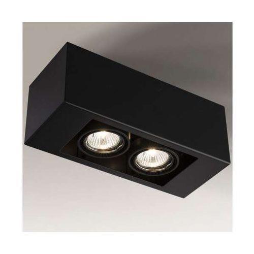 Sufitowa LAMPA spot SETO 1137/GU10/CZ Shilo regulowana OPRAWA prostokątna czarna, kolor Czarny