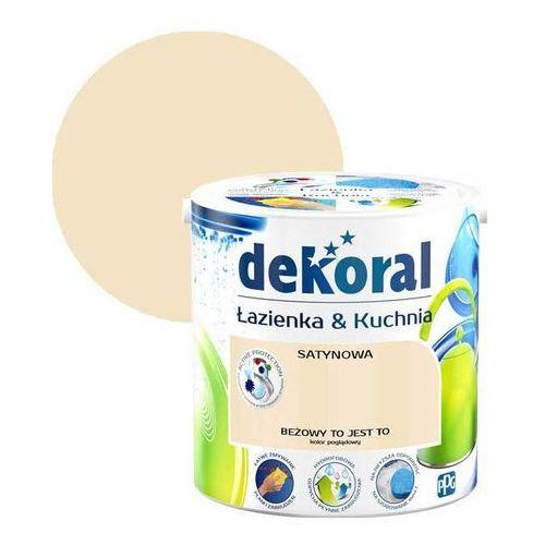Farba satynowa łazienka i kuchnia beżowy to jest 2,5 l marki Dekoral