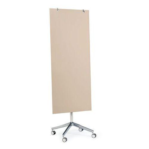 Szklana tablica suchościeralna, na kółkach, 650x1575 mm, jasnobrązowy, 3803716