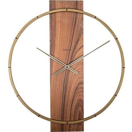 Zegar ścienny Carl brązowy
