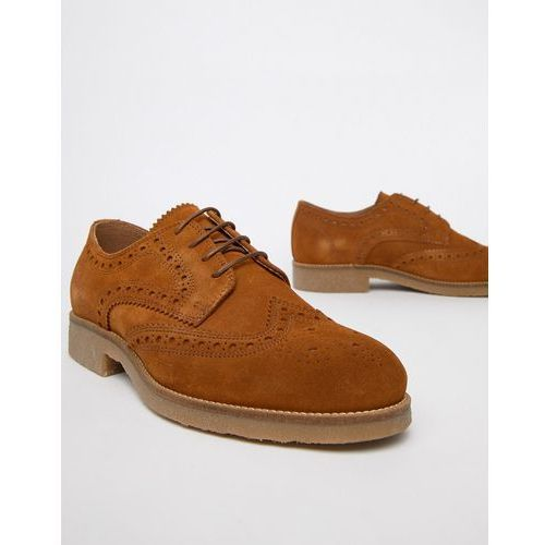 suede brogues with sole detail in tan - tan marki River island