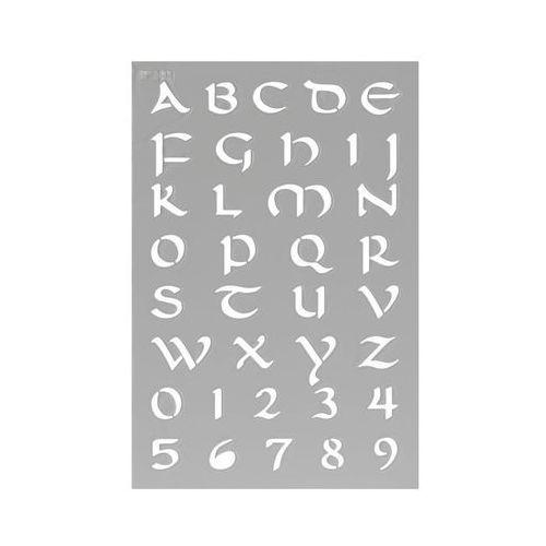 Jeger Szablon samoprzylepny alfabet ozdobny s nr 161 (5902166631539)