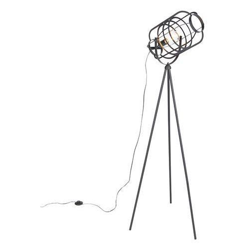 Przemysłowa lampa podłogowa statyw czarny - Zodiak