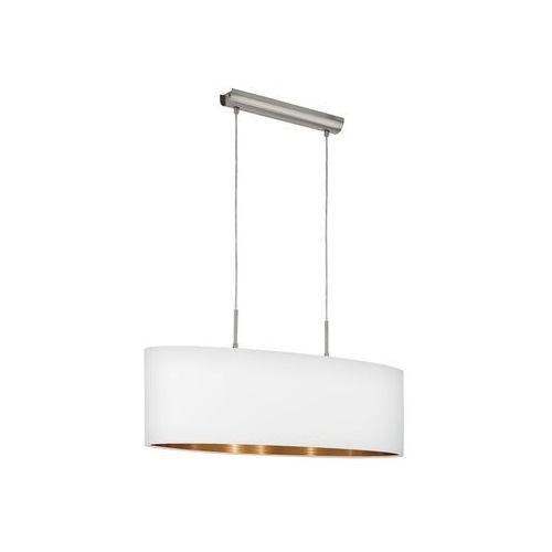 LAMPA wisząca PASTERI 95046 Eglo abażurowa OPRAWA zwis biały, kolor Biały