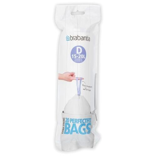 Worki na śmieci Brabantia PerfectFit Bags rozmiar D 15-20l 20 szt