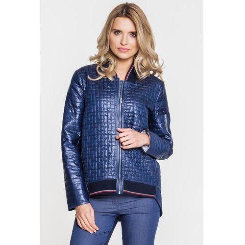 Granatowa, pikowana kurtka - Anataka, kolor niebieski