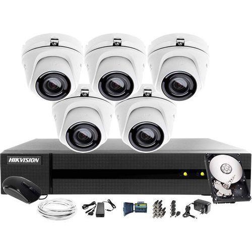5 kamerowy HWT-T123-M zestaw do monitoringu Hikvision HWD-6108MH-G2, 1TB, Akcesoria