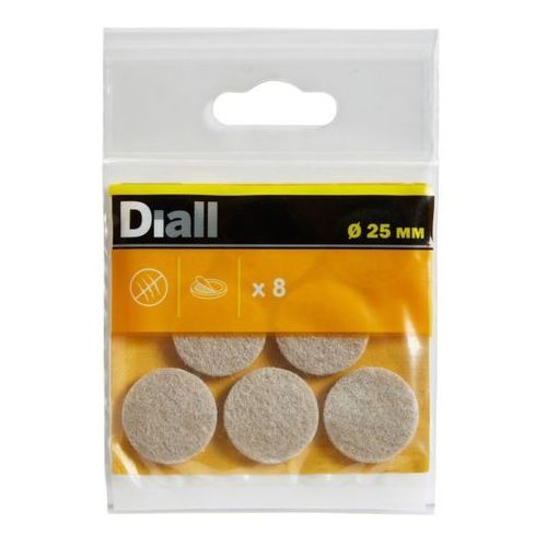 Podkładki samoprzylepne filcowe 25 mm beżowe 8 szt. marki Diall