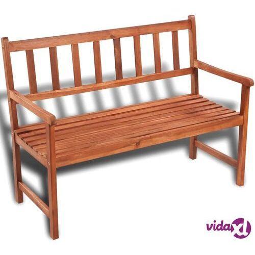 vidaXL Klasyczna, drewniana ławka ogrodowa (8718475908616)