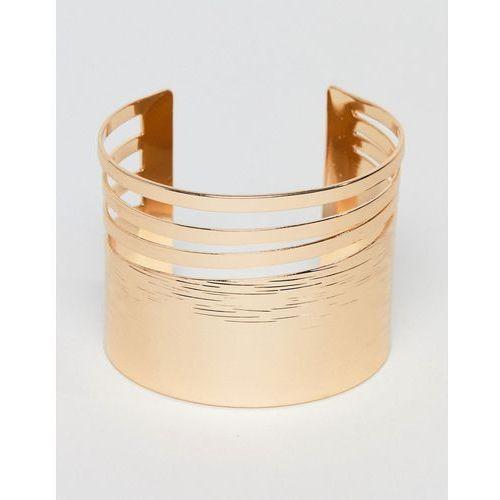 gold statement cuff bracelet - gold marki Aldo