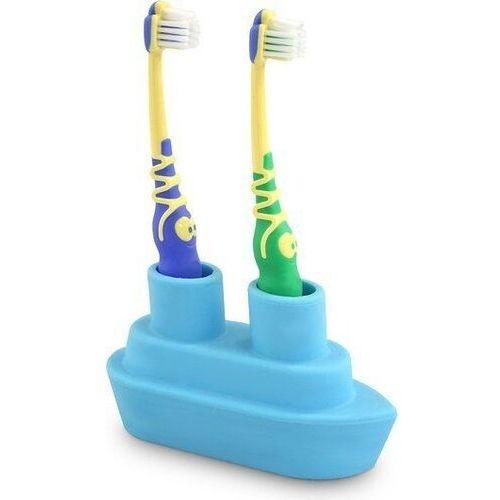 Stojak na szczoteczki do zębów podwójny Boat niebieski