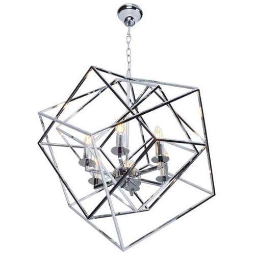 Maxlight Lampa wisząca andora p0327 metalowa oprawa geometryczny zwis świecznikowy chrom