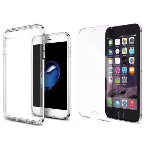 Sgp - spigen / perfect glass Zestaw   spigen sgp ultra hybrid crystal clear   obudowa + szkło ochronne perfect glass dla modelu apple iphone 7 plus