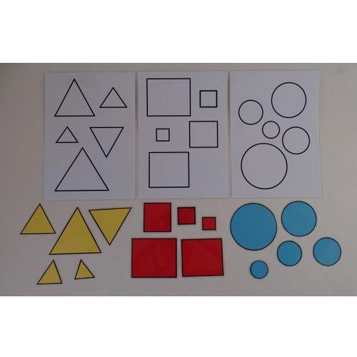 Bystra sowa Koło, kwadrat, trójkąt dopasuj figurę koła, kwadratu, trójkąta do wzoru