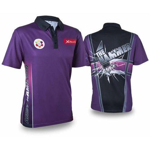 XQmax Darts Replika koszulki meczowej Andy'ego Hamiltona fioletowa, XS (8719407011626)
