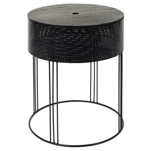 Intesi Burca okrągły czarny stolik