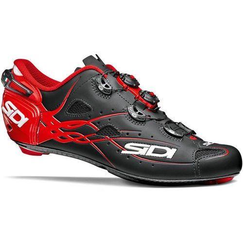 Sidi shot buty mężczyźni czerwony/czarny 42,5 2018 buty szosowe zatrzaskowe (8017732497826)