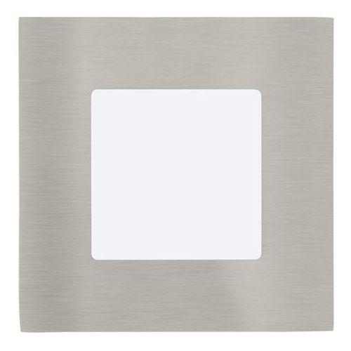 Plafon Eglo Fueva 1 95466 lampa sufitowa oprawa downlight oczko 1x2,7W LED nikiel mat / biały kwadr., 95466