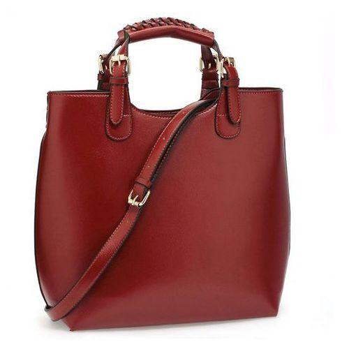 Wielka brytania Torebka damska shopper bag hit! burgundowy brąz - brązowy z odcieniem burgundu