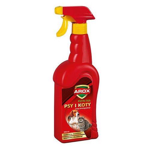 Spray na koty i psy . odstraszacz w płynie na psy i koty. marki Arox