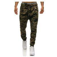 Spodnie joggery męskie moro-zielone Denley 0829