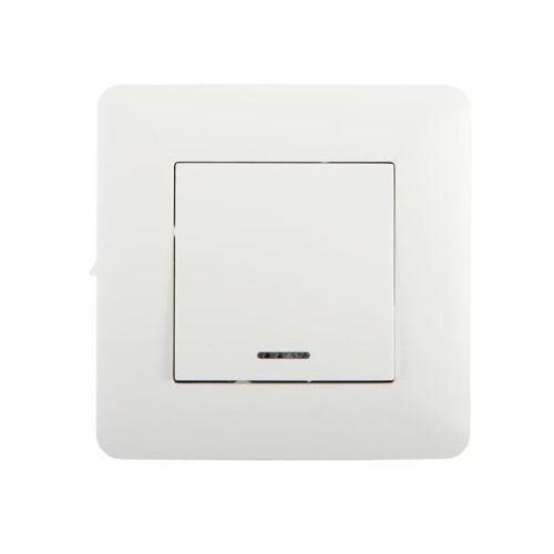 Przycisk pojedynczy podświetlany ARTEZO biały HBF