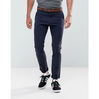 Tom Tailor Skinny Chino With Belt - Navy, kolor szary