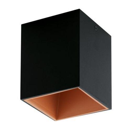 Lampa sufitowa polasso czarno/miedziana, 94496 marki Eglo
