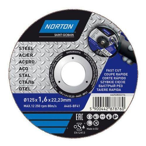 Tarcza korundowa Norton do cięcia stali 41-125 x 1 6 x 22 2 mm, 66252832214