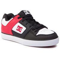 Sneakersy DC - Pure 300660 Black/Athletic Red/Black (Kak), kolor wielokolorowy