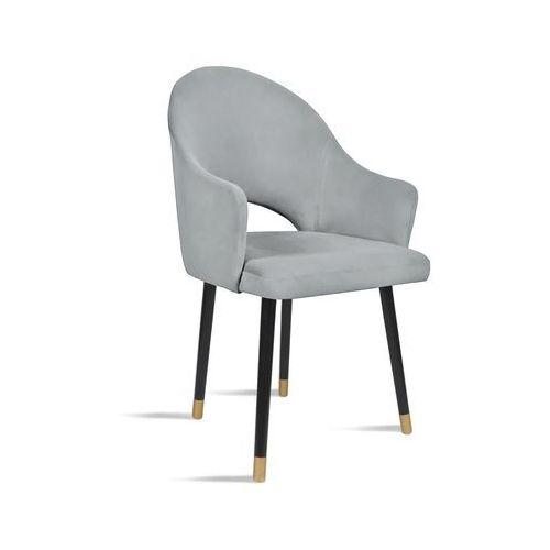 Krzesło BARI jasny szary/ noga czarny gold/ JA81, kolor szary