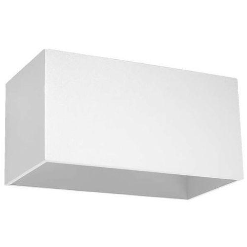 Kinkiet LAMPA ścienna SOL SL525 prostokątna OPRAWA metalowa kostka biała