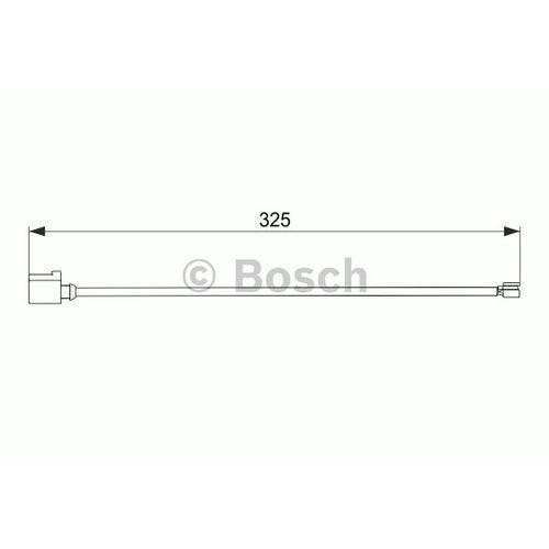 Styk ostrzegawczy, zużycie okładzin hamulcowych 1 987 474 567 marki Bosch