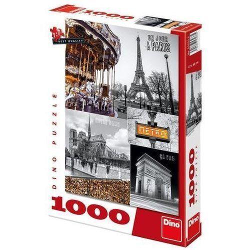 Puzzle 1000 Paryż kolaż DINO, AM_8590878532335