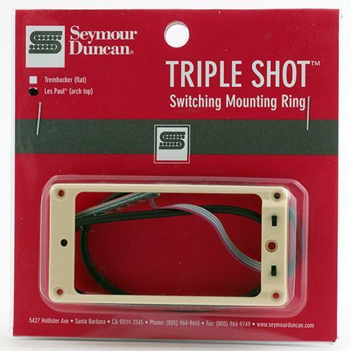 sts 2b cre triple shot, bridge switching mounting ring, arched - creme marki Seymour duncan