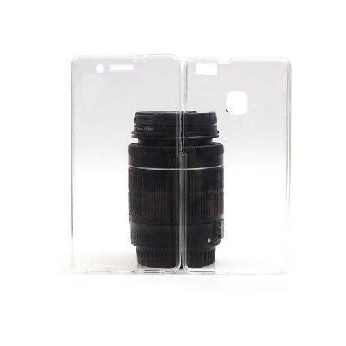 Huawei P9 Lite - etui na telefon Full Body Slim - przezroczysty, kolor biały