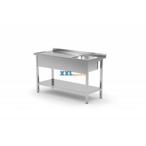 Polgast Stół ze zlewem i półką|szer:800-1900mm|gł.600mm