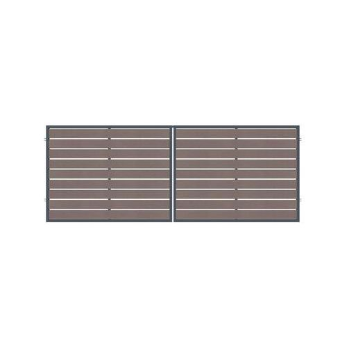 Brama dwuskrzydłowa BURSZTYN 400 x 150 cm POLARGOS (5902360120877)