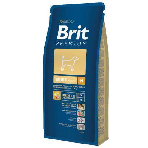 premium adult medium m karma dla psów ras średnich op.3/8/15kg marki Brit