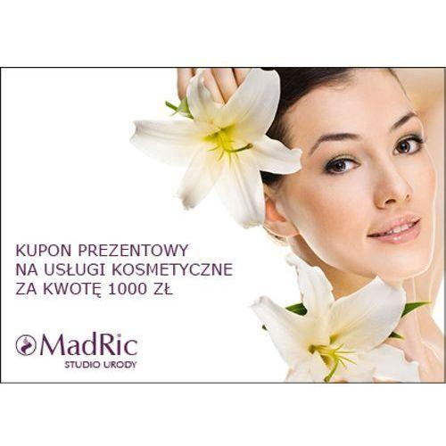Madric kupon prezentowy na usługi kosmetyczne za kwotę 1000 zł.