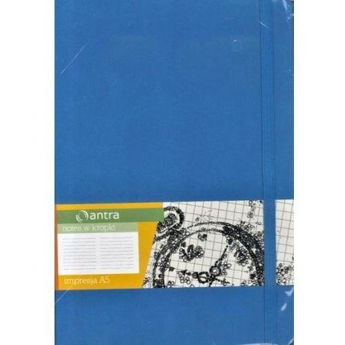 Antra Notes a5 kropki impresja jasny niebieski (5904210044081)