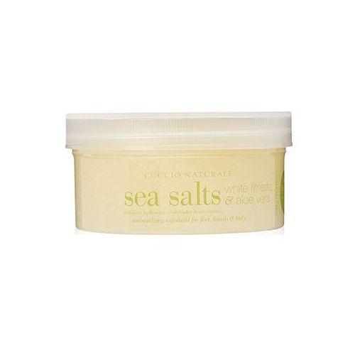 sól morska do dłoni, stóp i ciała | aloes i biała limetka - 553g marki Cuccio