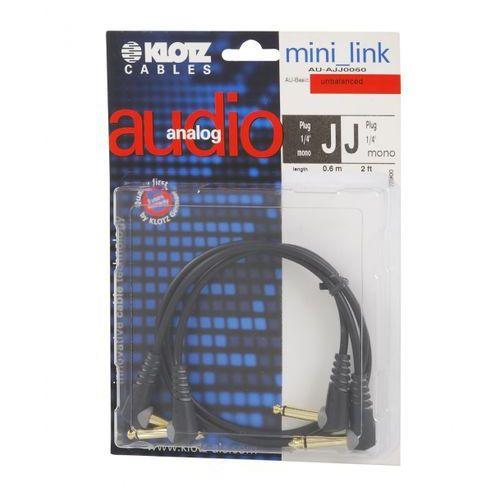 Klotz AU AJJ0060 kabel patch stompbox 60cm, TS kątowe (2 szt.)