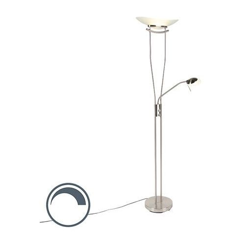 Nowoczesna lampa stojąca ze stali, w tym led i ściemniacz - lexus marki Qazqa