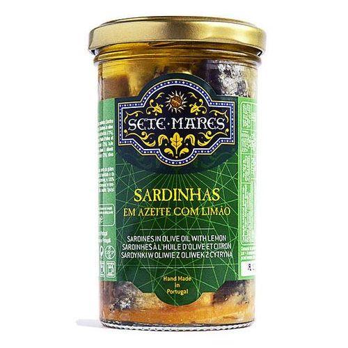 Sardynki w oliwie z oliwek z cytryną 250g marki Sete mares