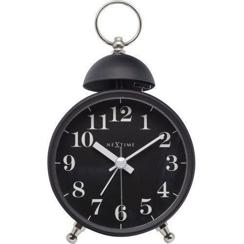 Nextime - zegar stojący single bell - czarny