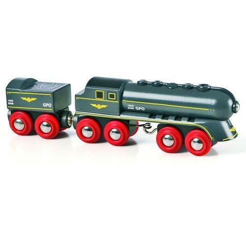 Brio czarna lokomotywa parowa z zapasem węgla (7312350336979)