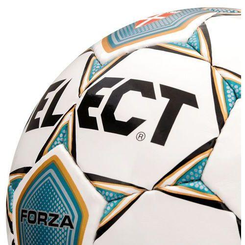 Piłka nożna  forza #5 biało-niebieska marki Select